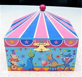 -,CIRCUS MUSIC BOX WITH DANCER INSIDE