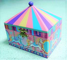 -,CAROUSEL MUSIC BOX WITH HORSE INSIDE