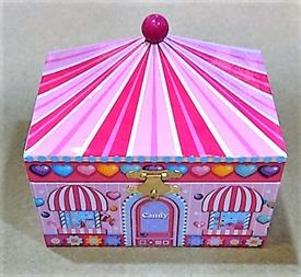 -,CANDY SHOP MUSIC BOX WITH DANCER INSIDE
