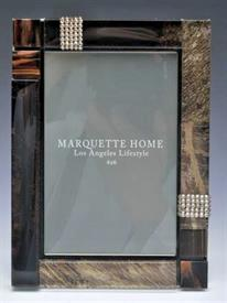 -,4X6 LUQUES FRAME. ART GLASS TILE & SWAROVSKI CRYSTAL FRAME HAND MADE IN CALIFORNIA.