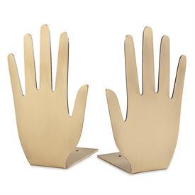 """-GOLDEN HAND BOOKENDS. 8"""" TALL"""