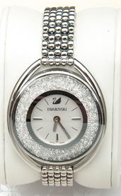 -CRYSTALLINE OVAL WHITE BRACELET WATCH