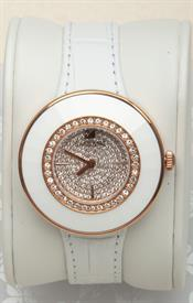 -OCTEA DRESSY WHITE ROSE GOLD TONE WATCH