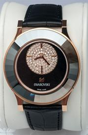 -OCTEA CLASSICA ASYMMETRIC BLACK ROSE GOLD TONE WATCH