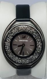 -CRYSTALLINE OVAL BLACK TONE WATCH