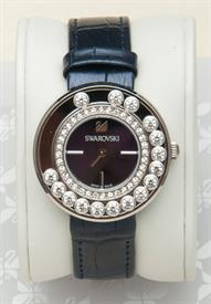 -LOVELY CRYSTALS AUBERGINE WATCH