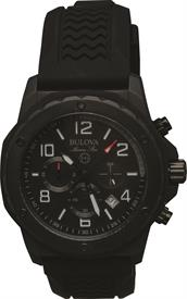 -MEN'S BLACK MARINE STAR CHRONOGRAPH WATCH CASE DIAMETER: 44mm CASE THICKNESS: 12.8mm WATER RESISTANCE: 100M