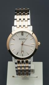 -MEN'S TWO TONE SILVER AND GOLD TONE QUARTZ WATCH CASE DIAMETER:38MM CASE THICKNESS:6.7MM WATER RESISTANCE:30M