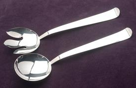 "2 PIECE SILVER PLATED SALAD SET 11.5"" LONG QUADRUPLE SILVER PLATED HALLMARKED ""SSS"""