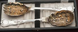 "WILLIAM ADAMS SHEFFIELD ENGLAND SALAD SET 9"" 2 PIECE SALAD SET"