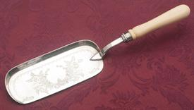 "CRUMBER SHEFFIELD ENGLAND SILVER PLATED 13"" LONG  WITH BONE HANDLE"