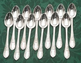 """SET OF 12 DEMITASSE SPOONS SILVER PLATED BY MAPPIN & WEBB OF ENGLAND 4.6"""" LONG"""