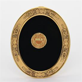 "-,1675G 2.5"" X 2.75"" FRENCH STIPLED OVAL FRAME IN GOLD"