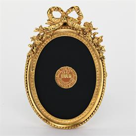 """-,1833G GOLD ACANTHUS OVAL FRAME, 2.5X3.25"""" OVAL"""