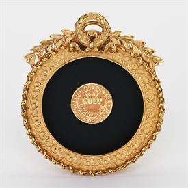 """-,1666G GOLD PETITE CIRCLE FRAME, 1.75"""" ROUND"""