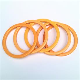 ,SET OF 5 MUSTARD YELLOW BAKLIKE SPACER BANGLES