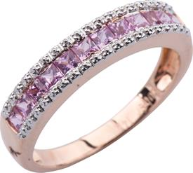 _14K ROSE GOLD PINK SAPPHIRE BAND WITH .75 CARRATS OF SAPPHIRE. REGULAR PRICE $369.00