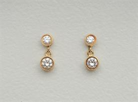 _14K YELLOW GOLD 1.0 CARAT DIAMOND DANGLE EARRINGS