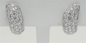 _PLATINUM 1.53 CARAT DIAMOND EARRINGS WITH APPRAISAL BY I.G.I.