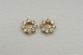 _14K YELLOW GOLD 1.0 CARAT DIAMOND EARRING JACKETS