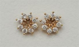 _14K YELLOW GOLD 1.50 CARAT DIAMOND EARRING JACKETS