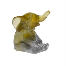 "-,MINI ELEPHANT, AMBER AND GRAY 2""T X  1 3/4""W"