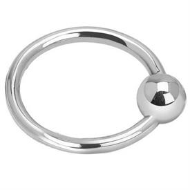 -,$SINGLE BALL/RING RATTLE. STERLING SILVER. MADE IN SPAIN.