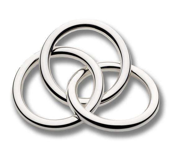 Cunill ,-$TRIPLE RING RATTLE. STERLING SILVER.