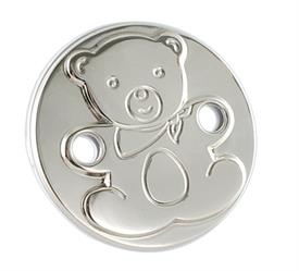 -$ROUND TEDDY DESIGN. MADE IN SPAIN OF .925 STERLING SILVER.