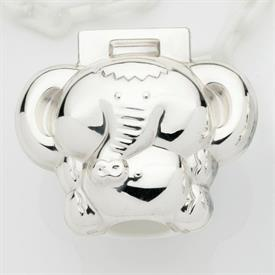 -ELEPHANT PACIFIER CLIP. STERLING SILVER