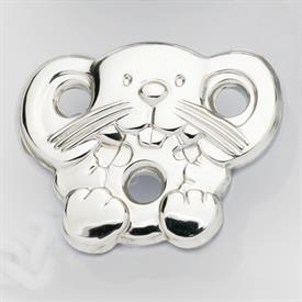 -MOUSE PACIFIER CLIP. STERLING SILVER