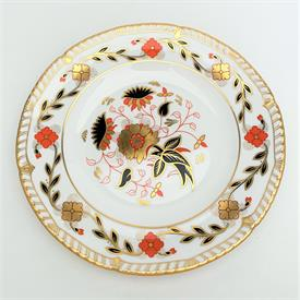 ",ROYAL CROWN DERBY 'GADROON ROSE' SALAD/DESSERT PLATE. CA. 1977-1983. 8.45"" WIDE"