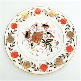 ",ROYAL CROWN DERBY 'ASIAN ROSE' DINNER PLATE. DUESBURY SHAPE. CA. 1910-1995. 10.75"" WIDE"