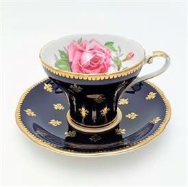 ,5PC PLACE SETTING, LYRIC BY SYRACUSE CHINA. INCLUDES DINNER, SALAD, & BREAD & BUTTER PLATES, TEA CUP & SAUCER. CA. 1955-1970