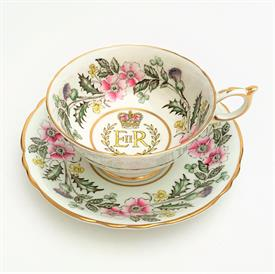 ,1953 PARAGON CORONATION OF HRH QUEEN ELIZABETH II COMMEMORATIVE TEA CUP & SAUCER.