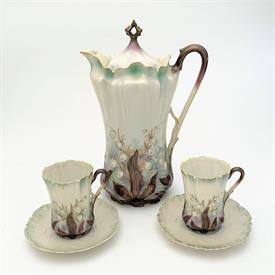 ,PARAGON TEA CUP & SAUCER IN YELLOW & WHITE WITH FLORAL SPRAYS, STYLE A1560/2. CA. 1952-1960. RARE STYLE.