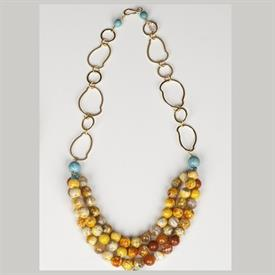,_GOLD WITH CITRUS AGATE & TURQUOISE