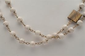 _EXTRA LONG WHITE CORAL & SHELL NECKLACE