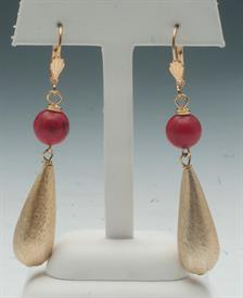 _ASSORTED GOLD TEAR DROPS & STONES EARRINGS