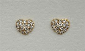 _18K YELLOW GOLD .65 CARAT DIAMOND HEART EARRINGS