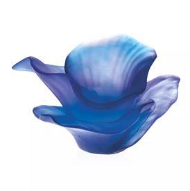 """-,ARUM FLOWER IN BLUE & PURPLE. 4.1"""" WIDE, 3.9"""" DEEP, 2.2"""" TALL."""