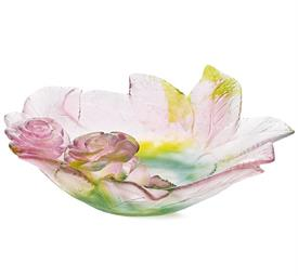 "-,LARGE ROSE ORNAMENTAL DISH. 7.25"" WIDE"