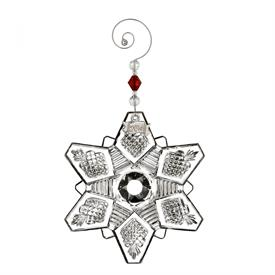 _2016 ANNUAL SNOW CRYSTAL, PIERCED ORNAMENT