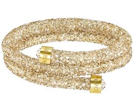 -5255907 CRYSTALDUST DOUBLE CUFF IN CLEAR AND GOLD CRYSTALS