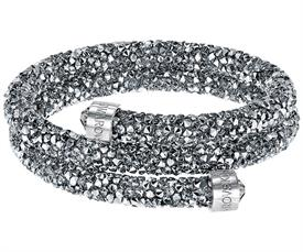-5255898 CRYSTALDUST DOUBLE BANGLE IN GRAY, SMALL