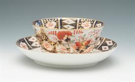""",IMARI BOWL & UNDERPLATE BY ROYAL CROWN DERBY 6""""D X 3""""H(BOWL) 8.5""""D X 1.5""""H (UNDERPLATE) CIRCA 1806-1825"""