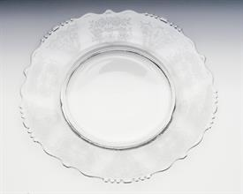 ,TIFFIN CHEROKEE ROSE ETCHED PLATE BEADED 8 1/8  THERE ARE A COUPLE SCRATCHES ON THE PLATES
