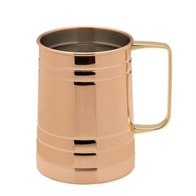 _,BARREL SHAPED COPPER PLATED MUG