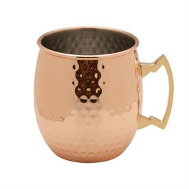 -,HAMMERED COPPER PLATED MOSCOW MULE MUG