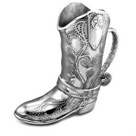 "-COWBOY BOOT, 2 QUART PITCHER. 10.25"" TALL. MSRP $142.25"